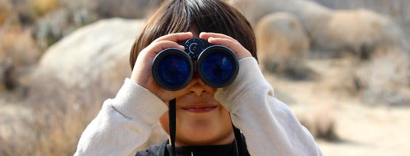 双眼鏡で発見
