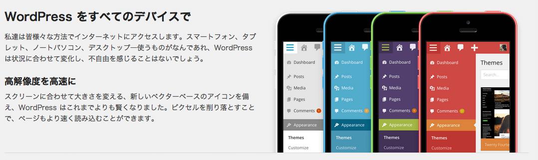 WordPress3.8管理画面のレスポンシブ化
