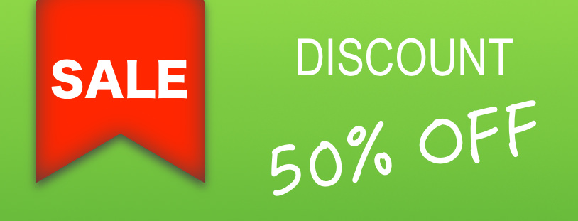 50%OFF DISCOUNT