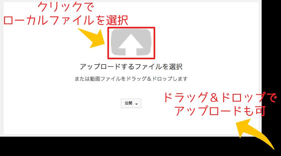 YouTubeへ動画のアップロード