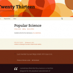 Twenty Thirteen の固定ページにテンプレートを追加する方法