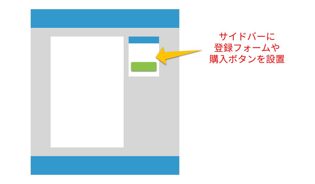 2カラムランディングページ
