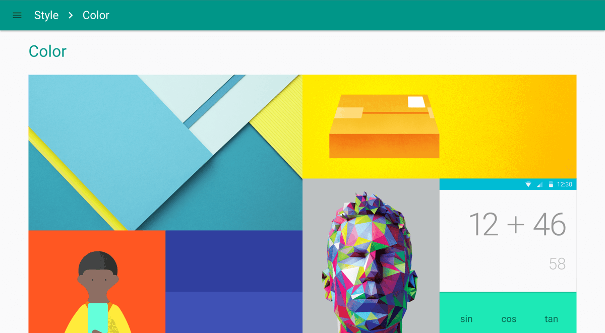 Google Material Design Style cColor